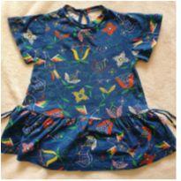 Vestido azul flores - 1 ano - Fábula