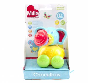 Chocalho articulado Elefante - Milla Baby - Sem faixa etaria - Milla