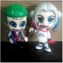 bonecos de pvc arlequina e coringa harley quinn e joker -  - DC Comics
