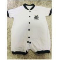 Macacão verão Time Santos Futebol Clube - 0 a 3 meses - Torcida baby  oficial
