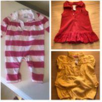 Kit roupinhas Ralph Lauren (macacão, macaquinho e vestido) tamanho 3 meses - 3 meses - Ralph Lauren