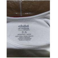 Body de malha com manga longa - 0 a 3 meses - Child of Mine