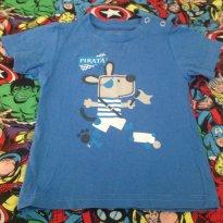 Camiseta pirata tamanho P - 3 a 6 meses - George