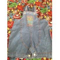 Jardineira jeans Mamãe Lua, tamanho M - 6 a 9 meses - Mamãe Lua