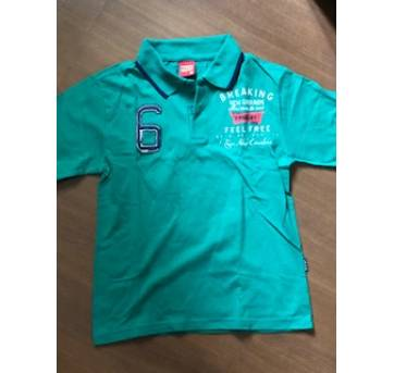 Camiseta polo tamanho marca Kyly nova 6 anos no Ficou Pequeno ... 662fcc24c1a76
