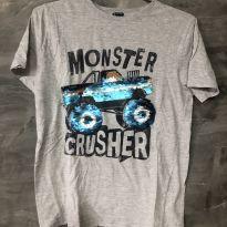 Camiseta monster tamanho 12 - 12 anos - Kiabi