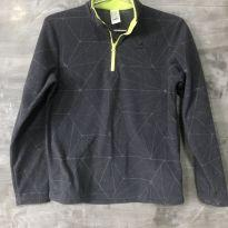 Blusa fleece cinza tamanho 12 - 12 anos - Quechua