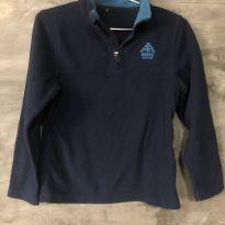 Blusa em fleece azul tamanho 10 - 10 anos - Berg