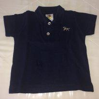 Camiseta polo azul - 9 a 12 meses - Lazy