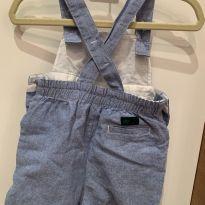 Macacão jeans Janie and Jack - 0 a 3 meses - Janie and Jack