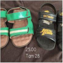 Lote sandálias - 28 - Tigor T.  Tigre