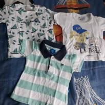 03 ITENS - 02 Camisetas e 01 Polo - P - 0 a 3 meses - PUC e Zig Zig Zaa