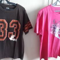 02 Camisetas masculinas - P - M - 40 - 42 - Sem marca