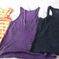 Três blusinhas regatinhas M - M - 40 - 42 - marisa e Pool e Basics