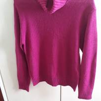 Blusa Tricot Rosa - M - M - 40 - 42 - Marfinno