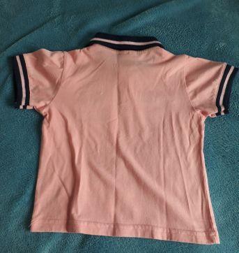 Camiseta Polo - 02 anos Salmão - 2 anos - nico