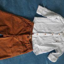 Conjunto Bermuda e Camisa Bata - 02 anos Baby Cluv - 2 anos - Baby Club