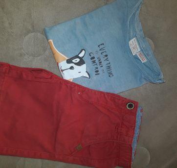 Conjunto Bermuda e Camiseta - Zara - 3/4 - 3 anos - Zara Baby