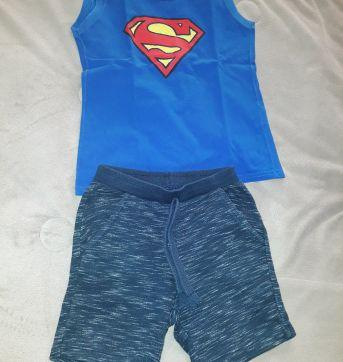 Conjunto Shorts e regata - 03 anos. - 3 anos - Pool Kids e DC Comics
