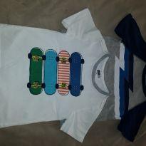 02 Camisetas - Crazy 8 - 03 anos. - 3 anos - Crazy 8