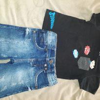 Conjunto Bermuda e Camiseta - 03 anos. - 3 anos - DC Comics e ZANGADINHOS