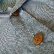 CAMISA SOCIAL MANGA COMPRIDA - 6 a 9 meses - Teddy Boom