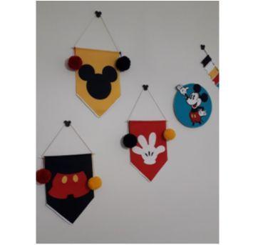 kit decoração / festa Mickey (5 peças) - Sem faixa etaria - Feito à mão