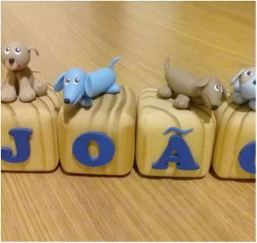 Cubos para o João - Decoração com o nome do bebê - Sem faixa etaria - Feito à mão
