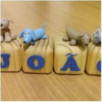 Cubos para o João - Decoração com o nome do bebê -  - Feito à mão