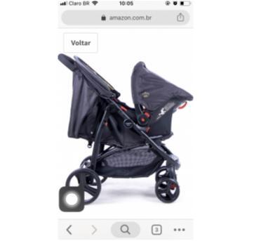 Carrinho com bebê conforto - Sem faixa etaria - Cosco