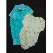 Look Ursinho- Macacão Verde Claro P + Body ursinhos e coelhinhos P - 3 a 6 meses - Sof & Enz KIDS e Baby Way