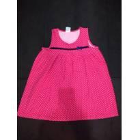 NOVIDADE! Vestido Rosa- Tam 08 - 7 anos - bochechinha