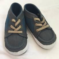 Sapato carters sola mole 6-9 meses cinza com azul - 13 - Carter`s