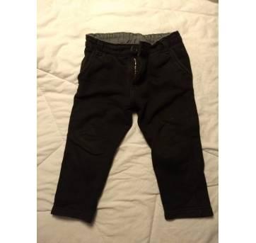 Calça Tigor T. Tigre preta quentinha com ajuste de cintura - 12 a 18 meses. - 12 a 18 meses - Tigor T.  Tigre
