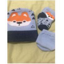 kit de 3 toucas 3 pares de luva e 3 meias recém nascido - Recém Nascido - Não informada