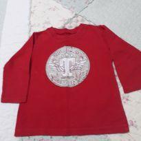 Blusa manga longa Tigor - 9 a 12 meses - Tigor T.  Tigre e Tigor Baby