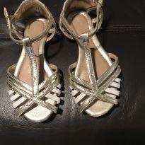 Sandália pampili dourada - 31 - Pampili