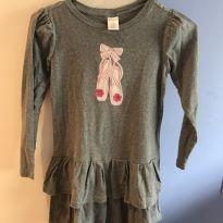 Vestido com babadinhos e manga longa - 8 anos - Gymboree