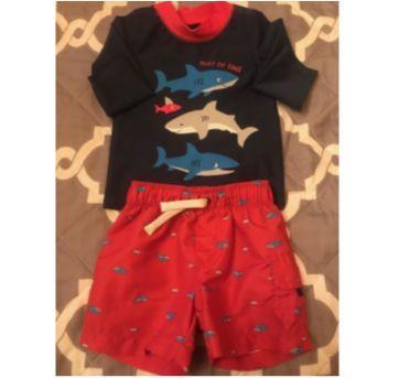 Conjunto Short/Camiseta Carters - 6 meses - Carter`s