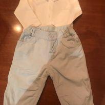 Conjunto calça Baby Cottons /Body - 9 a 12 meses - Baby Cottons e Bout`Chou