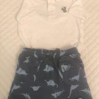 Conjunto short/body - 12 a 18 meses - Old Navy
