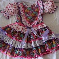 Vestido Caipira - 7 anos - Não informada