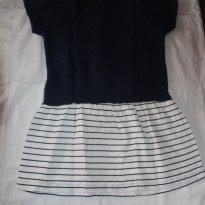 Vestido azul marinho - 3 anos - Zara