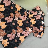 Vestido Zara flores laranjas - 4 anos - Zara