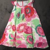 Vestido florido - 4 anos - Za girls