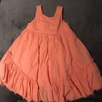 Vestido Laranja - 6 anos - Zara