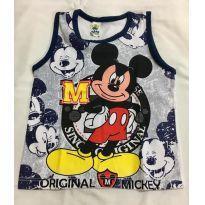Camiseta regata mickey - 3 meses - Não informada
