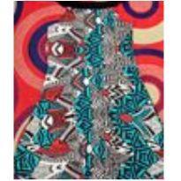 vestido trapézio estampado etnico - G - 44 - 46 - Não informada