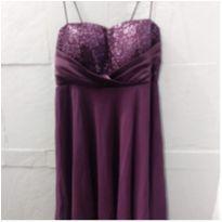 vestido luxo de festa uva - G - 44 - 46 - Importado