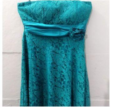 vestido luxo de festa em renda verde esmeralda - G - 44 - 46 - Importado